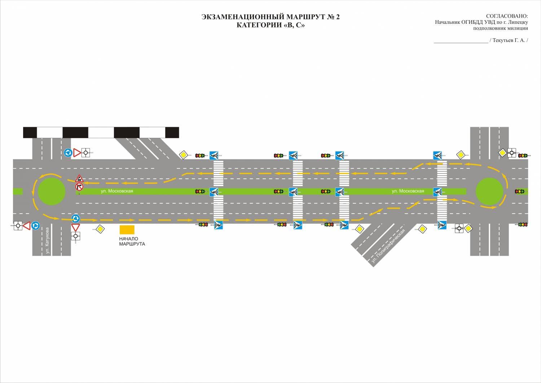 Экзаменационный маршрут в строгино схема проезда